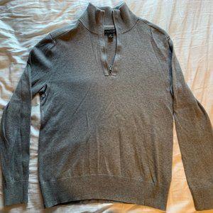 J. Crew Cotton Cashmere Quarter Zip Pullover Med.